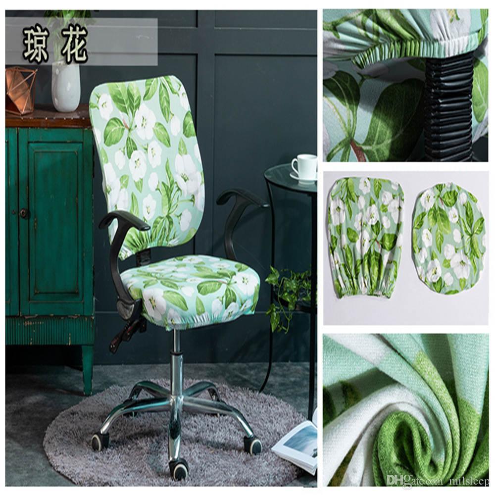Bilgisayar Koltuk Sandalye Kapak yemek odası için yapraklı kadınlar için güzel sahne sandalye kapak elastik koltuk örtüsü hediye