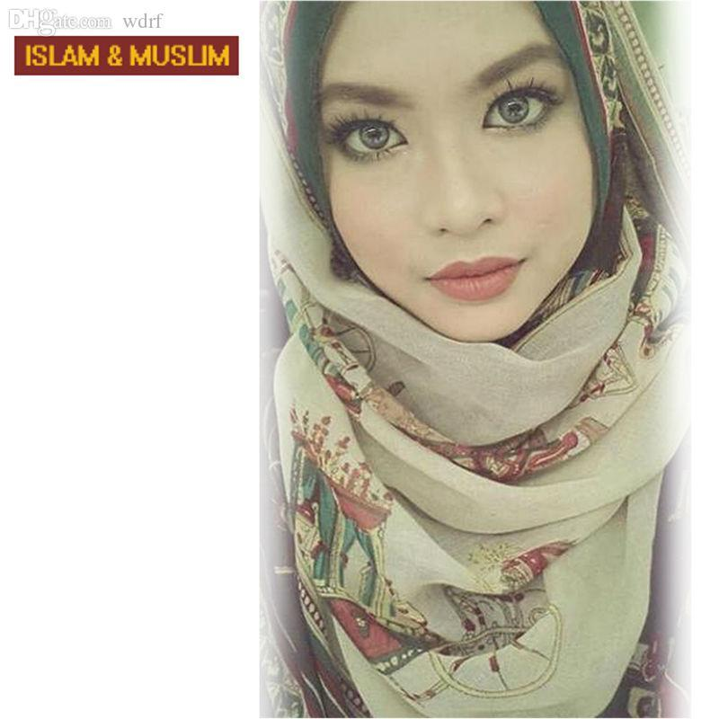 ENVÍO nueva venda del estilo del Islam bufanda principal de la manera al por mayor LIBRE mujeres musulmanes instantánea hijab largo de impresión turbante chal de gasa turbante