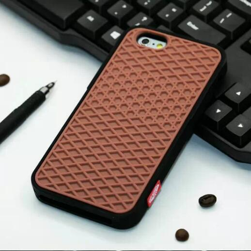 online store c958e d5760 Luxury Brand Silicone Case Soft Rubber Waffle Shoe Sole Back Cover For  IPhone X XS Max XR 8 7 6S Plus SE 5G Western Cell Phone Cases Cases For  Cell ...