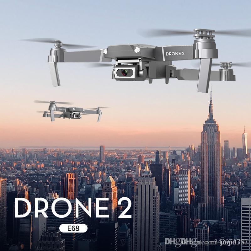 2020 Nova E68 WIFI FPV Mini Drone Com Wide Angle HD 4K 1080p Camera Hight Segure Modo RC dobrável Quadrotor Dron presente