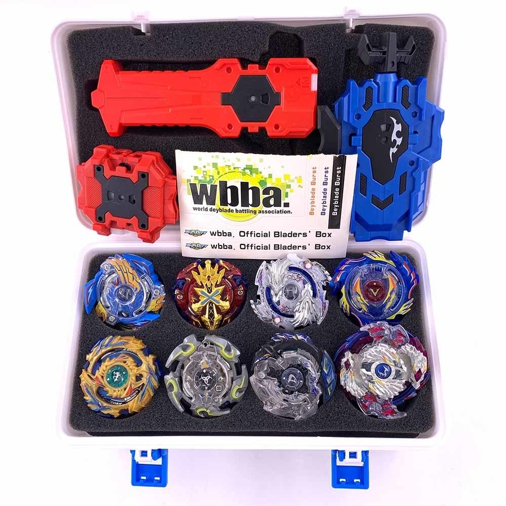 Tops Set Launchers Beyblade Toys Toupie Metal God Burst Spinning Top Bey Blade Blades Toy bay blade bablesMX190926
