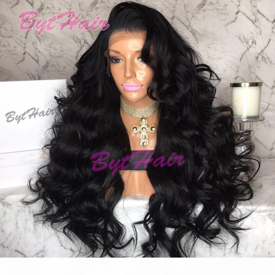 Bythair Hot Selling 180% Density Wavy Lace Front Human Hair Wigs For Black Women Natural Hairline Full Lace Wig With Baby Hair