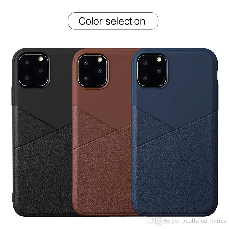 Premium Leather Design TPU Cell Phone Cases For Samsung Galaxy S20 Plus Iphone 11 Pro Xiaomi Mi9 Redmi Note 8 7 PU Covers