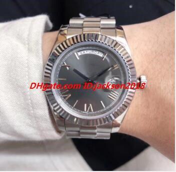 Venta caliente 19 del estilo de los hombres del reloj de 40 mm 228239 228235 228238 2182383 Plata Oro Pulsera de acero de Asia 2813 automático de lujo del envío del reloj libre