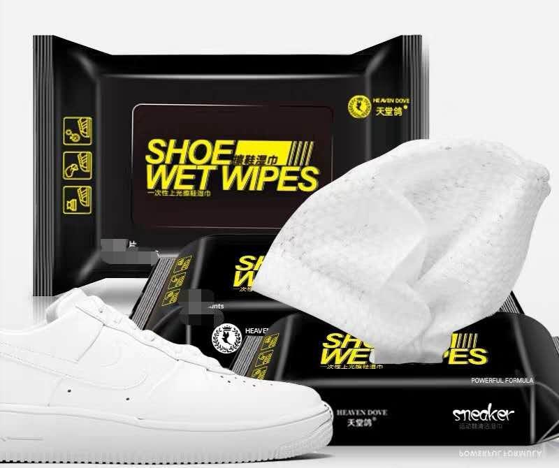 uygun hızlı temiz beyaz ayakkabıların spor ayakkabısı deri çanta ve seyahat ıslak mendil temizliği Ayakkabı batı hor satış yüksek kaliteli 12 / bag mendil