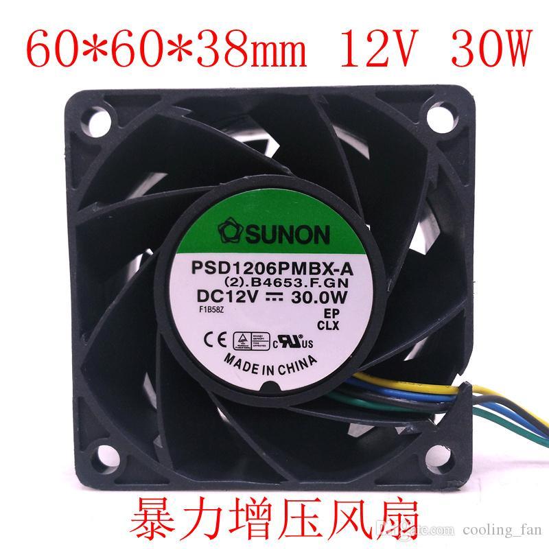 Jianzhun PSD1206PMBX-A PWM Temperaturregelung 6CM6038 12V mit hohen Geschwindigkeit Gewalt Boost Lüfter