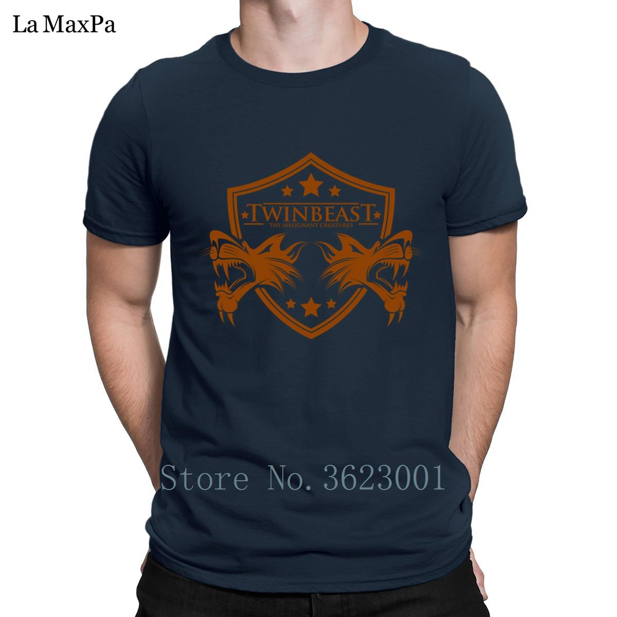 Photos personnalisés T-shirts Vêtements double bête T-shirt pour les hommes Casual Slogan à manches courtes T-shirt Vente pas cher