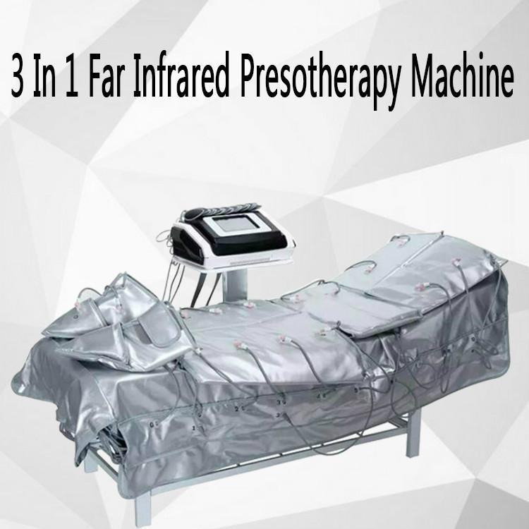 3 Em 1 EMS Pressoterapia de Infravermelho Distante Elétrica Estimulação Muscular Sauna Pressão Ar Pressoterapia Corpo Emagrecimento Máquina de Drenagem Linfática