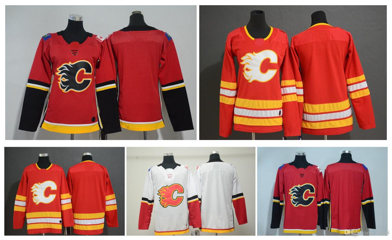 2020 2019 New Calgary Flames Jerseys Men Kids Women Blank No Name Number White Red Stitched Hockey Jersey From Qqq8 22 19 Dhgate Com