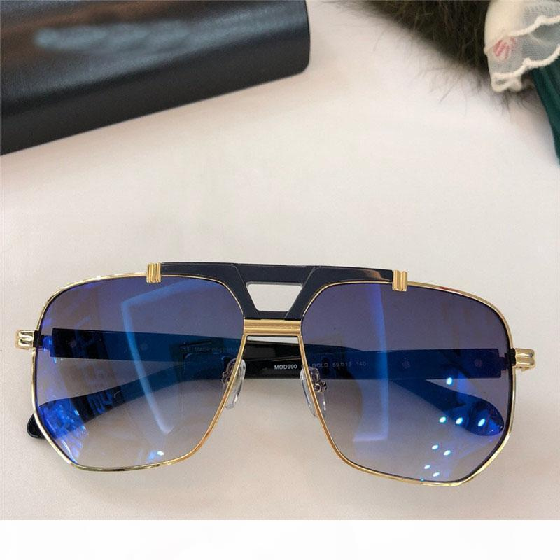 Fashionable popular sunglasses classic square frame top quality simple and generous style 990 protection eyewear with box