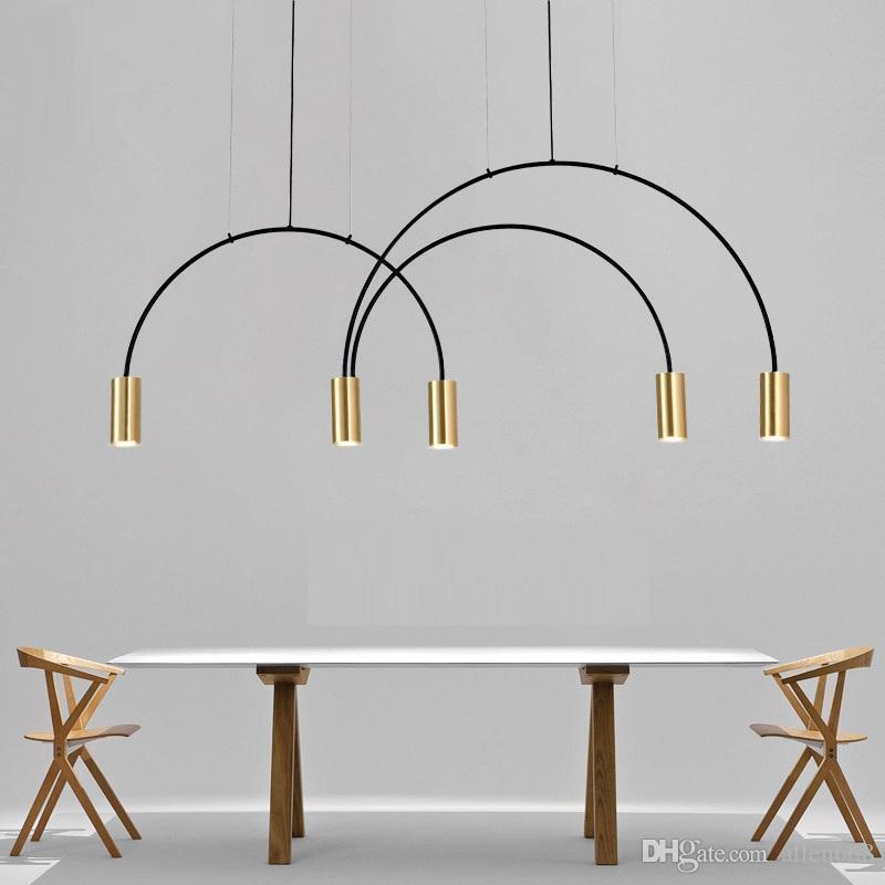 Современный Простой Led Люстра Ресторан Cafe Lamp Кузница подвесной светильник Bedroom Bar нордический подвесной светильник