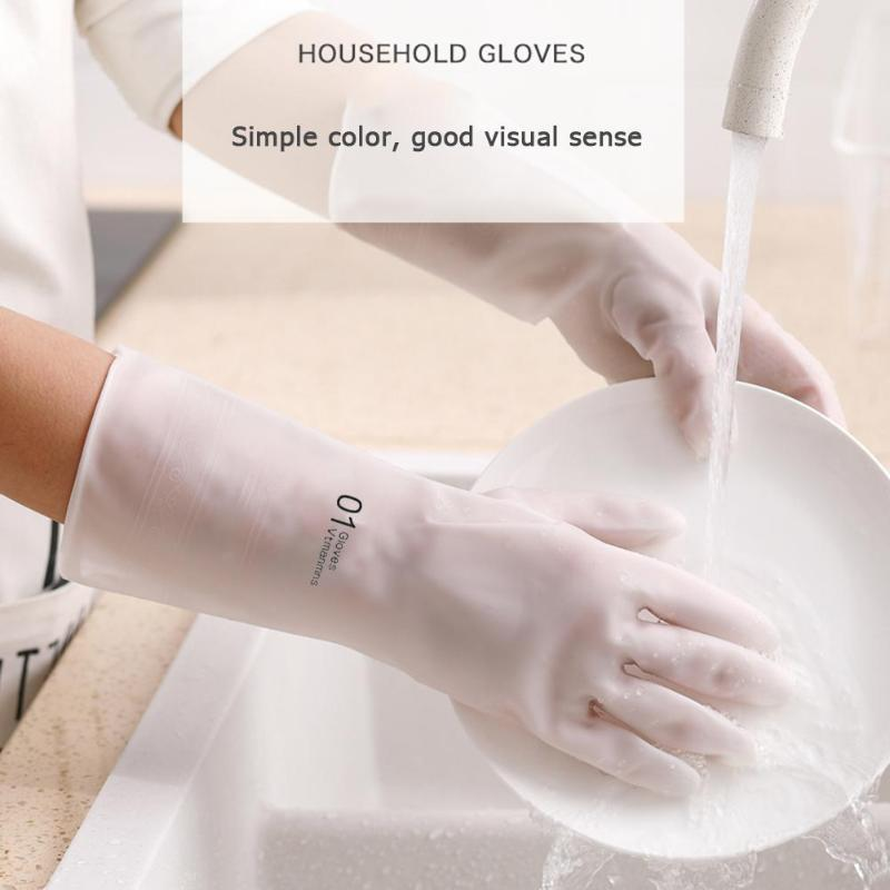 Nettoyage résistant à l'usure ménagers Gants Durable Facile à porter Facile à nettoyer Cuisine Gants laver la vaisselle anti-dérapant particules