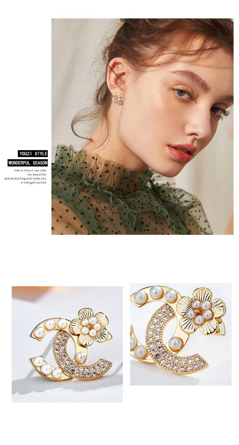 Gold Silver Plated Flower Stud Earrings for Grils, Women Silver Posts Cubic Zirconia Earring Cute Earrings Hypoallergenic Fashion