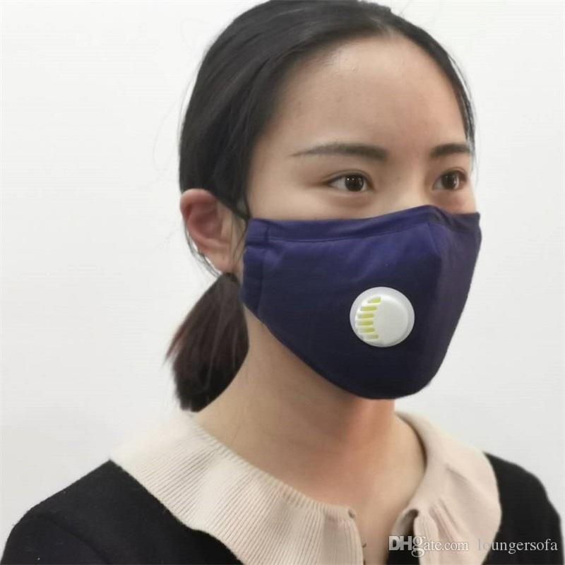 성인 조정 마스크 Mascherine Earloop 접이식 호흡기 안티 PM2.5 입 얼굴 마스크 천 재사용이 밸브는 7 삼하의 UU 교체 호흡