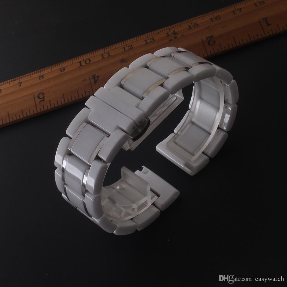 Высокое качество ремешки часов керамические часы ремешок accesssories подходят часы Мода мужчины Ледис 14мм 15мм 16мм 17мм 18мм 19мм 20мм 21мм 22мм 23мм