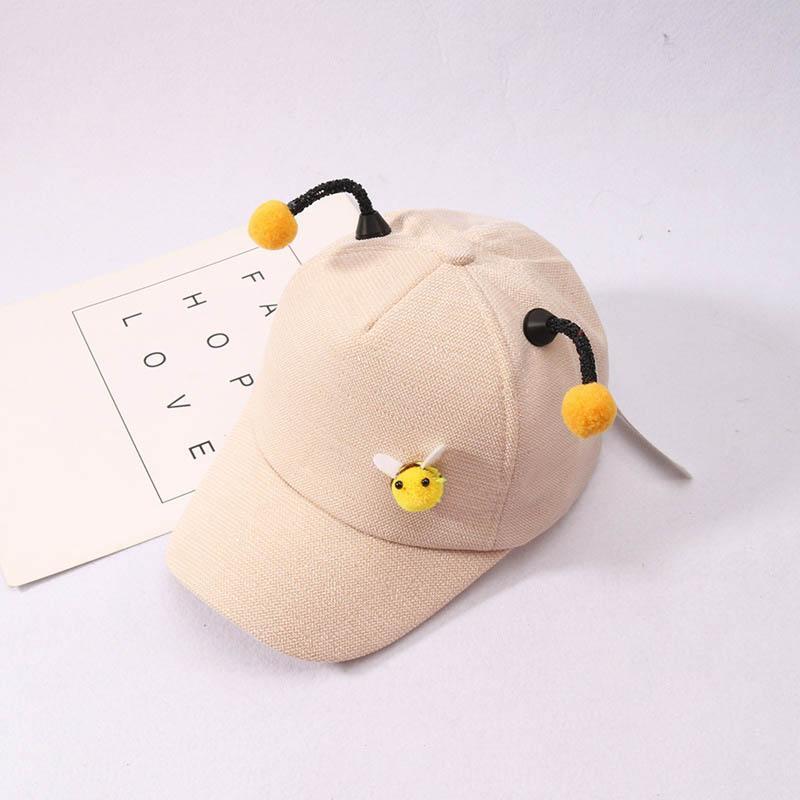 Frühlings-Kinder Baseballmütze Baby-Mädchen-3D Little Bee Hysteresen-Hut-justierbare Kinder Hip Hop Sun Cap