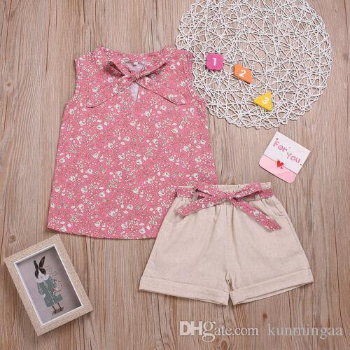 Magliette per bambini T-shirt per bambini + Pantaloni / Pantaloncini / Abiti Completi Set di vestiti