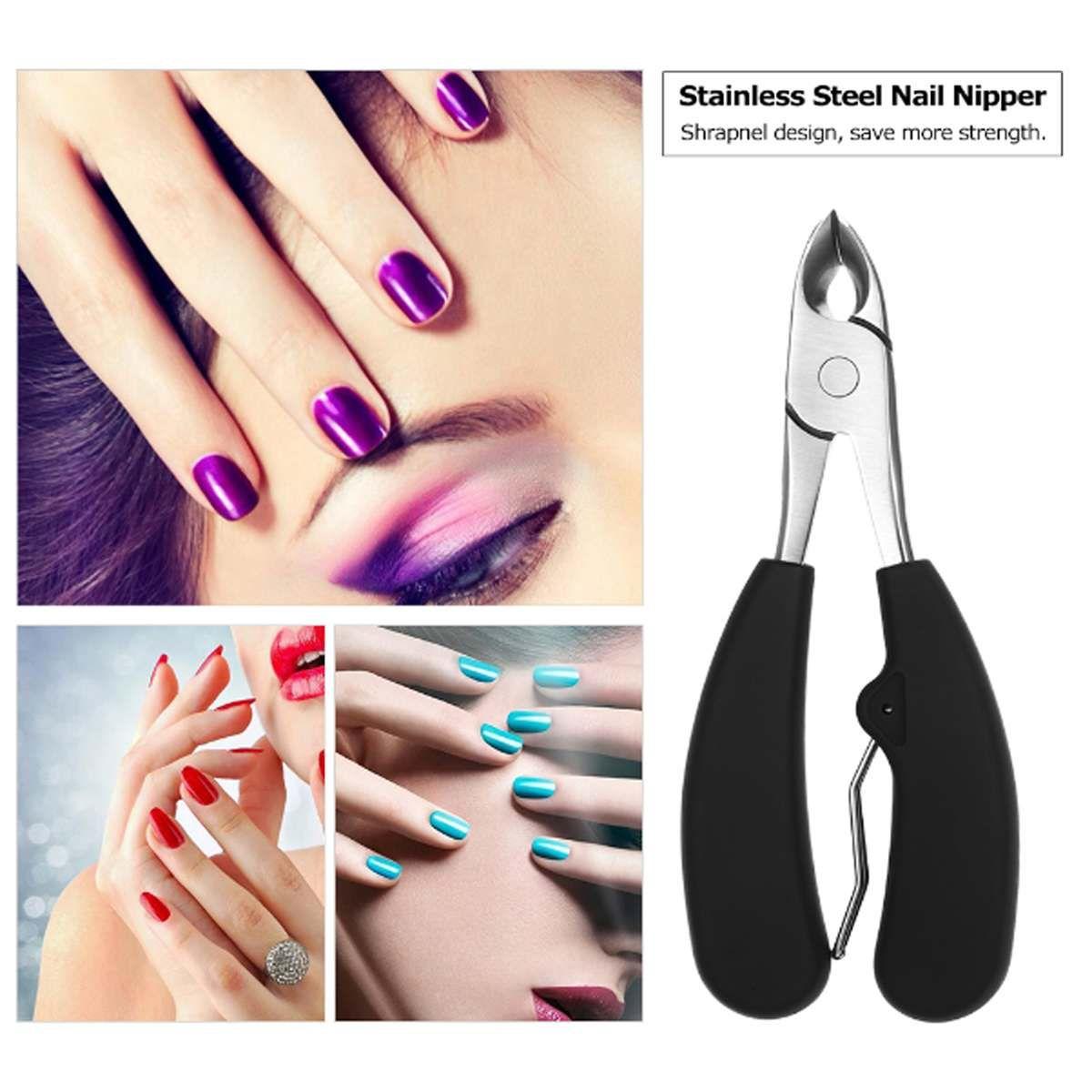Nail Clipper 11Stainless Steel Toe Trimmer 두꺼운 곰팡이를 넣은 발톱 손톱 가위의 라디안을위한 가위 디자인
