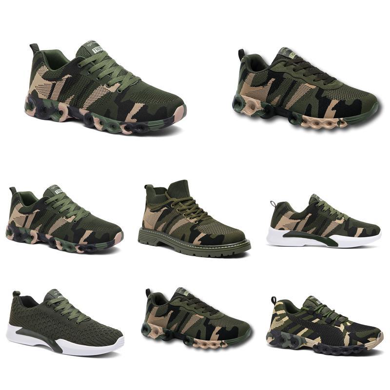 Espadrillas non-Brand Chaussures progettista Scarpe Uomo Scarpe Donna Camouflage Army Green Outdoor Trainer Siez 36-44 titolo 207 Esecuzione