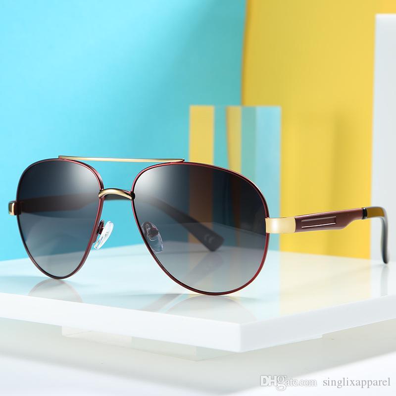 Vintage Sonnenbrille Herren Marke Design Legierung Rahmen Doppeltrage TAC1.1 Polarisation Sonnenbrille Unisex Luxus Fahren Brillen CQTNR