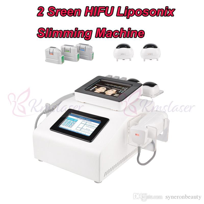 1.5mm 3.0mm 4.5mm HIFU cilt gençleştirme çil kaldırma yüz germe 8mm ve 13mm Liposonix vücut zayıflama kilo kaybı spa salonu güzellik equipm