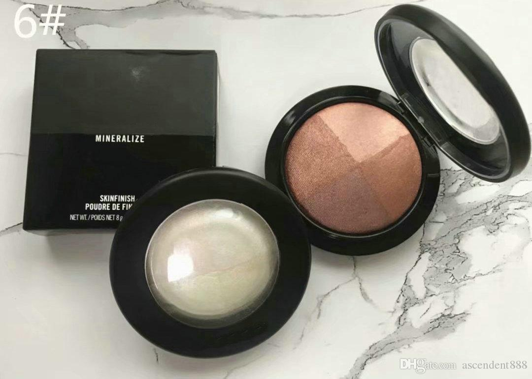 Maquillaje de marca Mineralización de la piel Acabado de la piel Resaltador de polvo Colores mixtos Iluminar la cara Powder 8G Cosmetics Envío gratis
