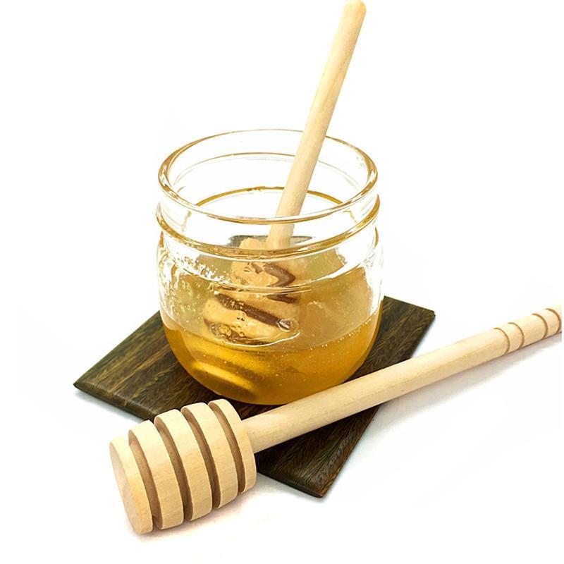 1Pc Praktische Stiel Holz Honig Löffel Mixstab Dipper Für Honig-Glas-Zubehör Küchenhelfer Andere Geschirr