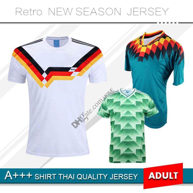 1988 1990 Germany Retro Soccer Jerseys 1994 Futbol Camisa Deutschland home away #18 KLINSMANN #10 Matthias Football Shirt