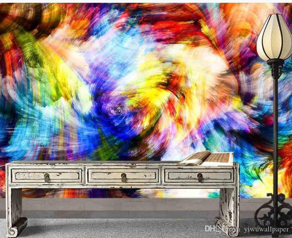 papel pintado moderno para habitaciones fondos de pantalla de colores modernos que viven acuarela abstracta de la sala de estar de la pared de fondo