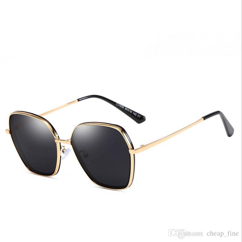 Designer Sonnenbrillen Hochwertige Metallscharnier Sonnenbrille Männer Brille Frauen Sonnenbrille UV400 Objektiv Unisex