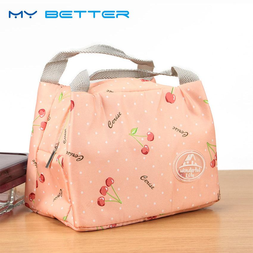 Fashion Cute Portable Insulated Canvas Lunch Bag Thermal Food Travel Picnic Lunch Bags Cooler Lunch Box Tote D19010902