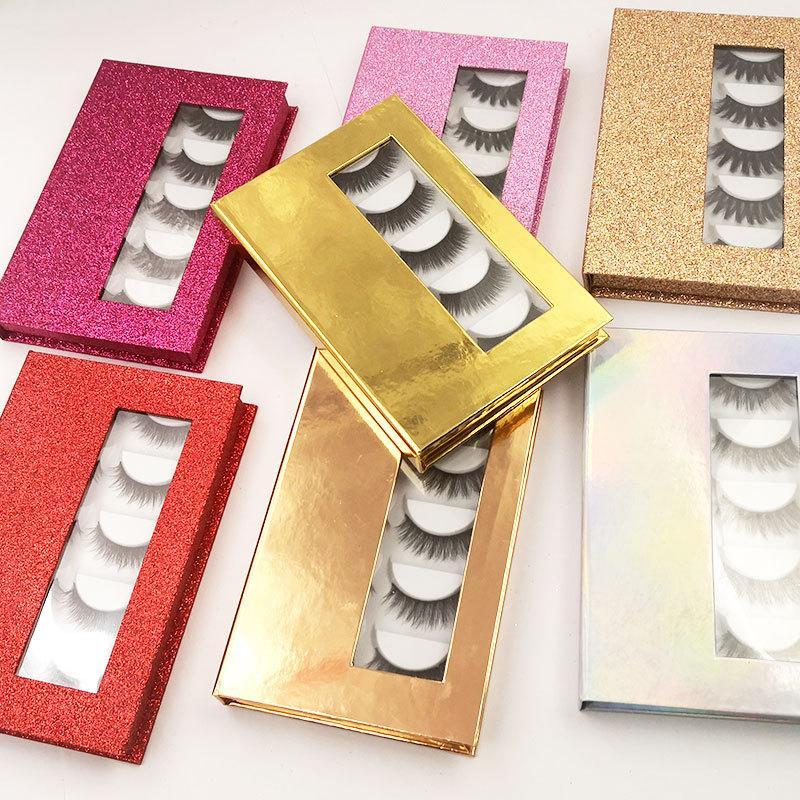 3D 가짜 밍크 속눈썹 상자가있는 섬유 거짓 눈 속눈썹 메이크업 두꺼운 크로스 자연 가짜 속눈썹 수 사용자 정의 속눈썹 포장 상자