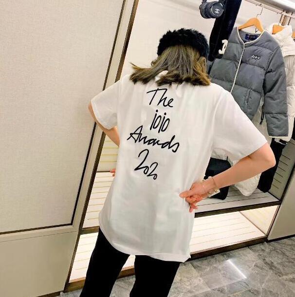 DLetter Nakış Lüks Casual Erkek Tops ile Erkek Tee Gömlek Yaz Marka tişört için 20SS Paris Giyim Yeni Tasarımcı T Gömlek