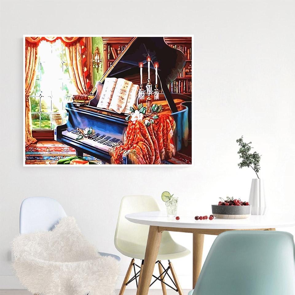 Compre Colorear Por Números En Adultos Piano Lienzo Kits Unframe De Aceite De Diy Pintar Por Números Chica Decoración Del Hogar Pintura Acrílica Pintura Kits Números A 7 86 Del Youlovehome