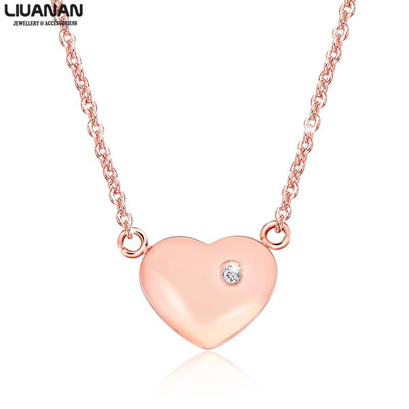 Valentinstag-Geschenk für ihre Edelstahl-Herz-Halskette Liebes-hängenden Halskette für Freundin Frau Frauen