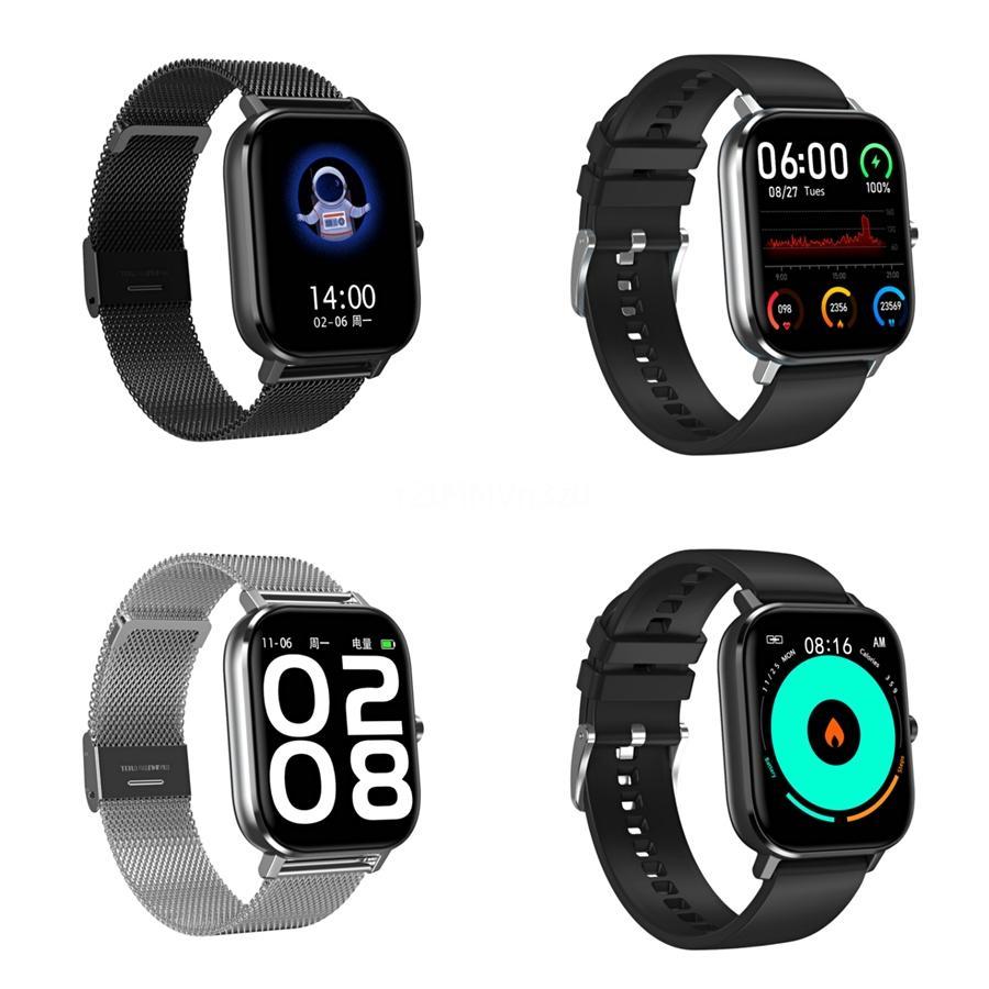 2020 New Anti-Fingerprint 1,14 polegadas tela colorida DT-35 relógio inteligente Homens Mulheres IP68 Waterproof Heart Rate Monitor DT-35 Smartwatch # QA81403