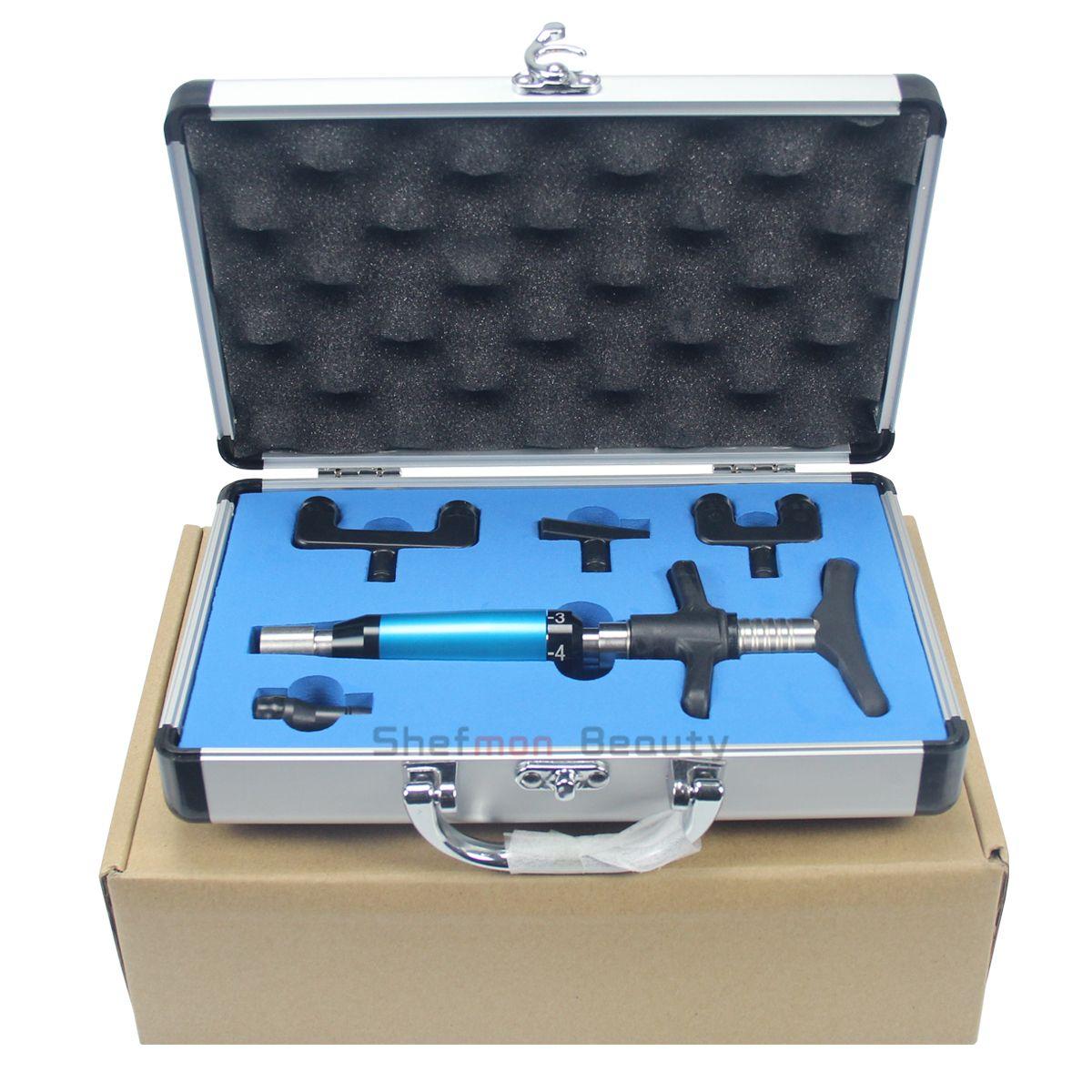전문 의료 장비 휴대용 임펄스 클리닉 또는 살롱 홈을 위해 총을 사용하여 조정 악기 척추 교정 지압 요법 조정