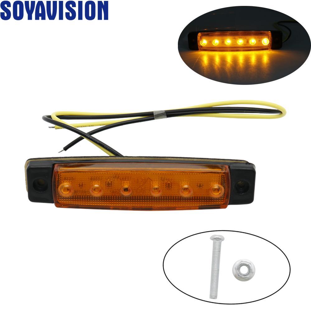12V 6 LED Auto camion del bus Autotreno indicatore laterale delle luci della luce di indicatore laterale del freno della lampada lampeggiatore luce di segnale