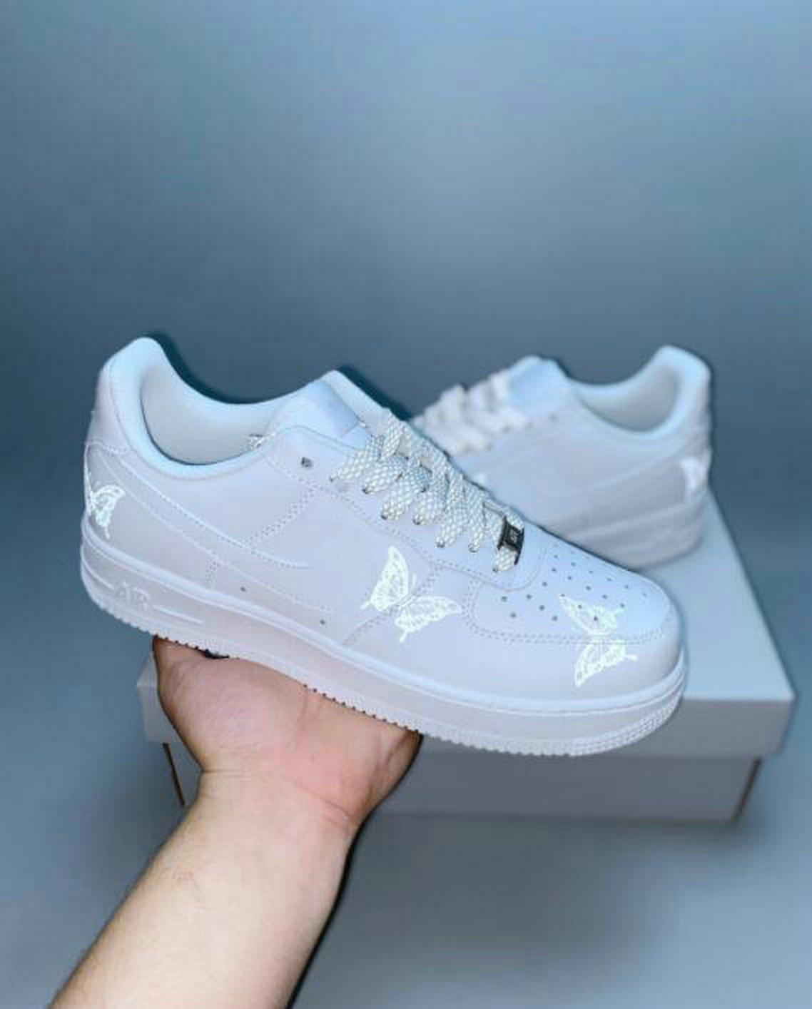 2020 New White Butterfly 1s Reflective