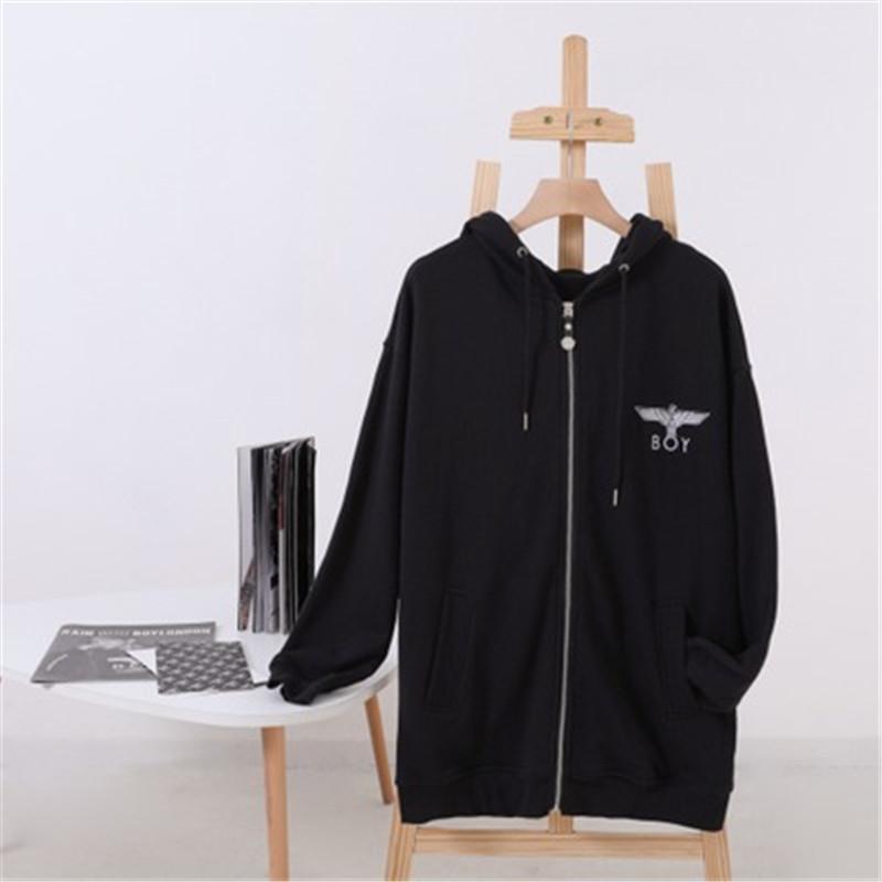 Heiße Verkaufs-Qualitäts-Art und Weise Hoodies Brief Eagle-Druck Weiche nicht Distortion Warme Pullover beiläufige lose Herbst Strickjacke Hoodies