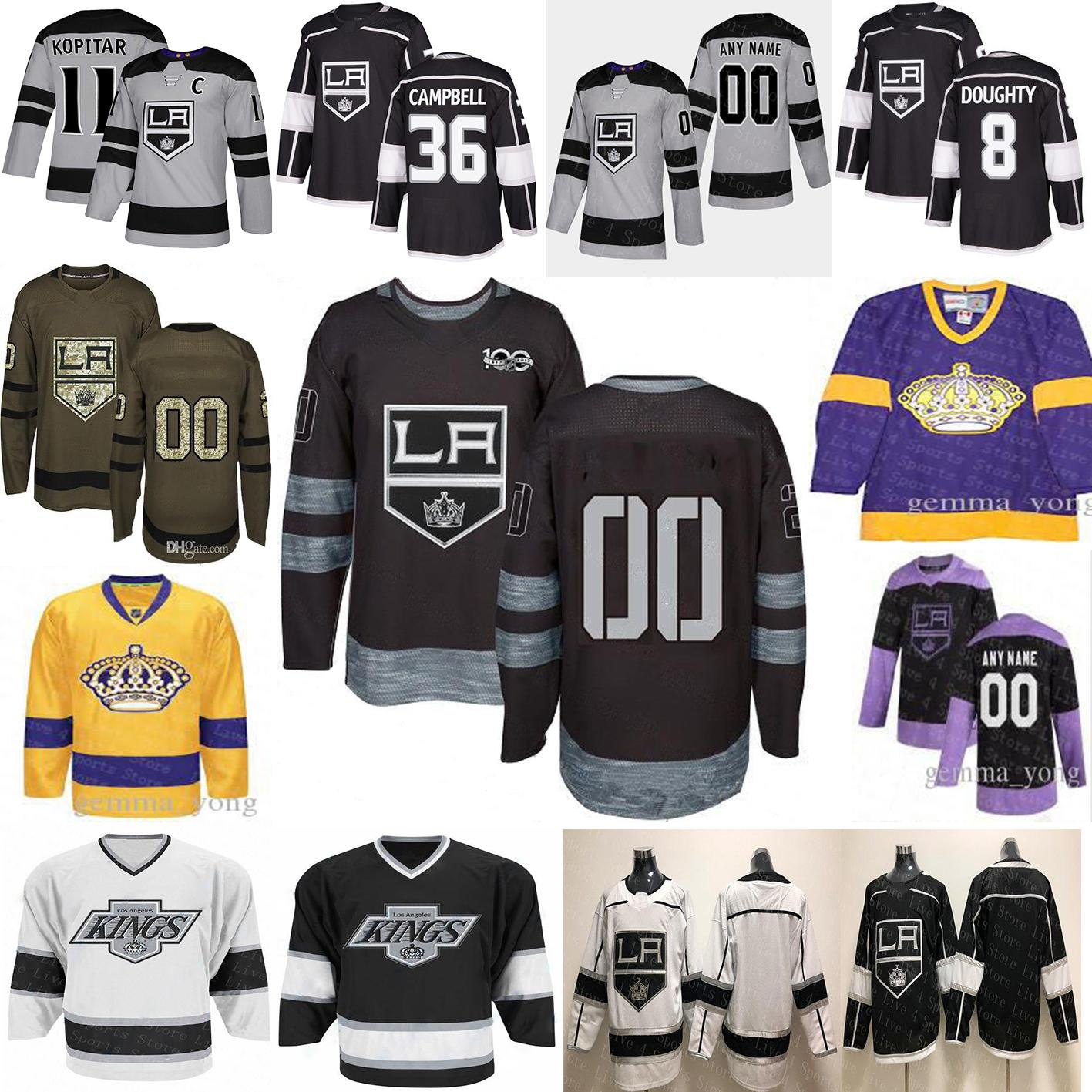 2020 Los Angeles LA King 90s Era Heritage Jersey Anze Kopitar Ilya Kovalchuk Dustin Brown Drew Doughty Jonathan Quick Jeff Carter Toffoli