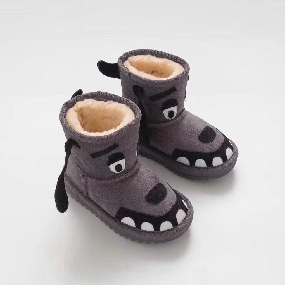 Hot Sale-ts WGG australiano caldo della neve di inverno Boots Bailey Bow ragazza dei bambini del ragazzo Triple Khaki Nero Stivaletti 25-34