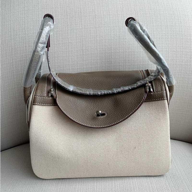 Donne borsa in vera pelle spalla Lind leggero femminile Carry Bag Tote Cavas Casual Fashion Sac