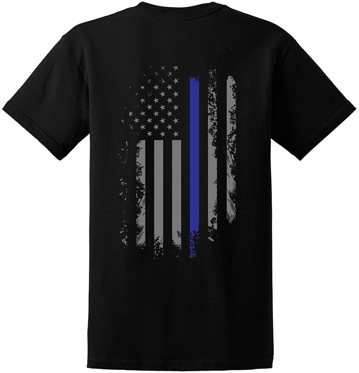 Indietro The Blue Uomo / Thin Blue Line 'America Bandiera polizia Lives Materia Shirt