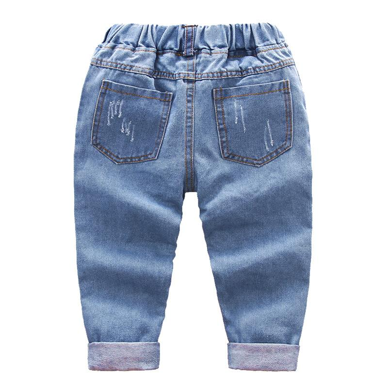 IENENS 2-7Y Fashion Boys Casual Jeans Trousers Baby Toddler Boy's Denim Pants Kids Children Slim Long Pants Bottoms Clothing