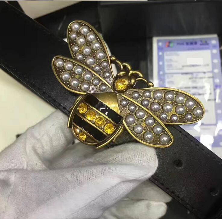 Горячая распродажа классический стиль Красная пчелка пряжка с 20 моделями мужские женские Рим реальная картина 100см-125см не с коробкой в подарок женские дизайнерские ремни