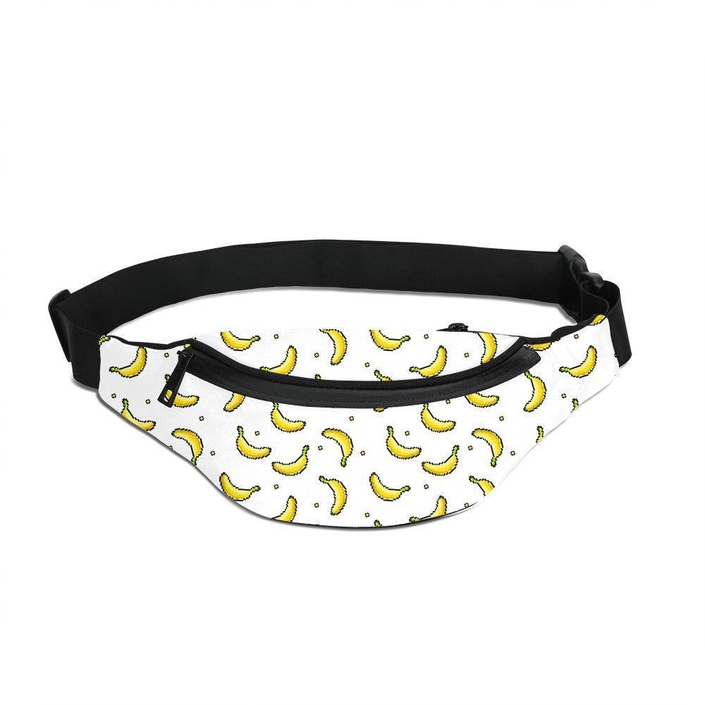 Banana Fruit Running Waist Bag Men Print Your Own Design Hip Belt Fanny Pack Women Phone Zipper Pouch Unisex Chest Bag