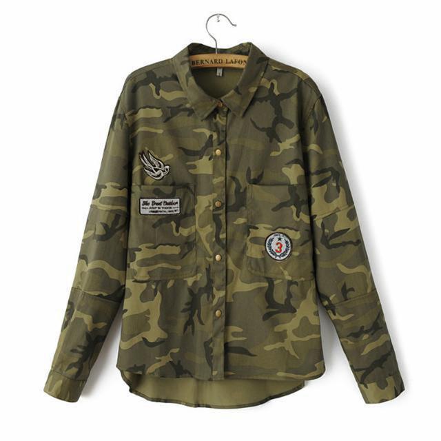 Escudo corta básica de manga Chaqueta Militar Mujeres verde militar chaquetas de vestir exteriores delgada de la chaqueta de las mujeres blusas abrigos Delgado