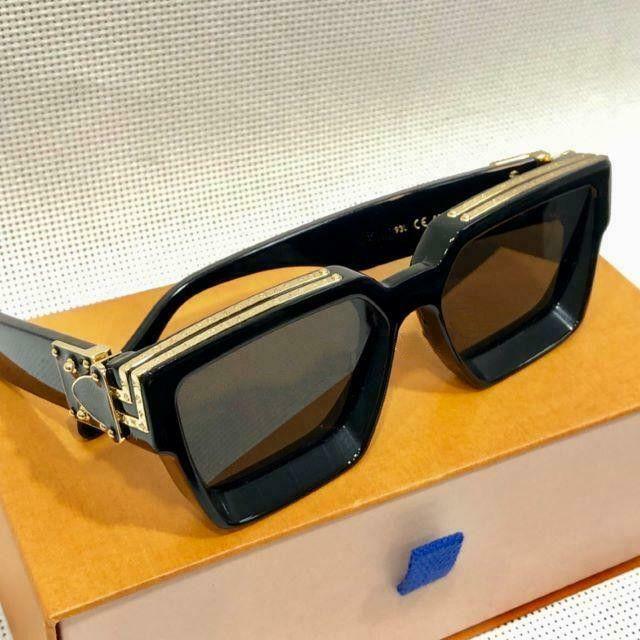 Lüks 1.1 Milyonerler Sunglases erkekler kadınlar tam çerçeve Vintage tasarımcı MILLIONAIRE 1.1 güneş gözlüğü erkekler MILLIONAIRE Siyah Logo İtalya'da Yapılan