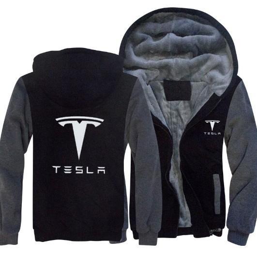Kış Sonbahar erkekler Baskılı ceketler Tesla Kazak Sıcak Günlük Stil erkek Kapüşonlular kat T191025 kalınlaşır